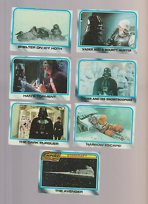 Lot of 7 Star Wars The Empire Strikes Back trading cards