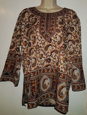 5093909932d8 New Mens Womens Tribal African Dashiki Brown Drape Shirt  Uk Size 16   Free  Size