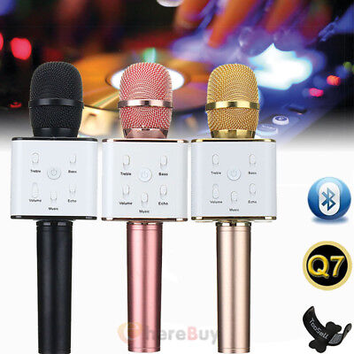 Q7 Wireless Microphone Speaker Bluetooth KTV Karaoke USB For iPhone Android +Box