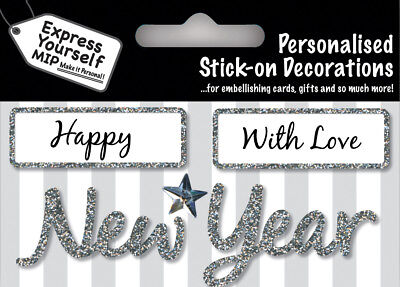 Silver Friend DIY Greeting Card Toppers Personalise Handmade Cards Yourself