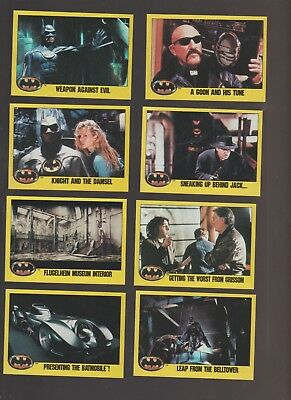 Lot of 8 Batman movie trading cards published 1989