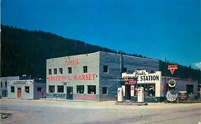 Roadside Postcard Fink's Grocery & Gas Station, Red River, New Mexico used 1960