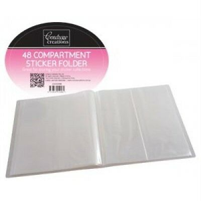Sticker Folder 48 Compartments Clear Plastic Pages NEW