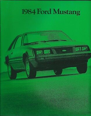 1984 Ford Dealer  Mustang new vehicle brochure