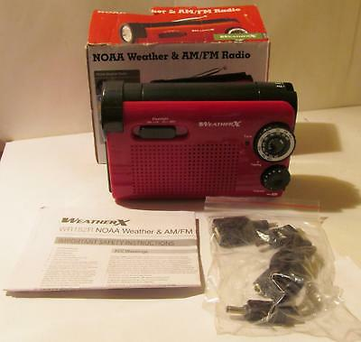 NOAA WeatherX Weather & AM/FM Radio Hand Crankable in Emergencies WR182R