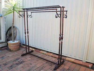 Handmad Iron Clothes Garment Rack Display Stand Home Shop Shelf Rods S-001CPR03