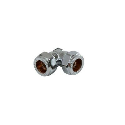 Supaplumb Compression Elbow Chrome Plated Pack 5, 15mm
