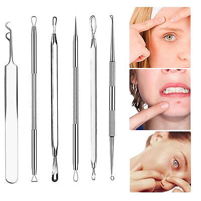 Lots Kit Blackhead Acne Comedone Pimple Blemish Extractor Remover Stainless Tool