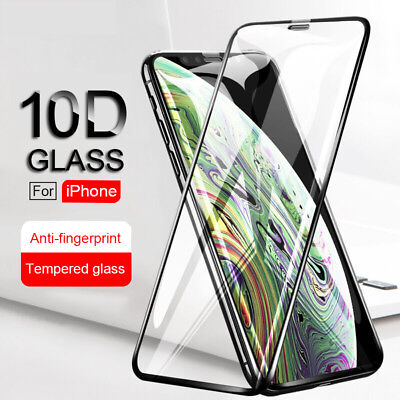 10D Curved Full Coverage Tempered Glass For iPhone Xs Max XR XS Screen Protector