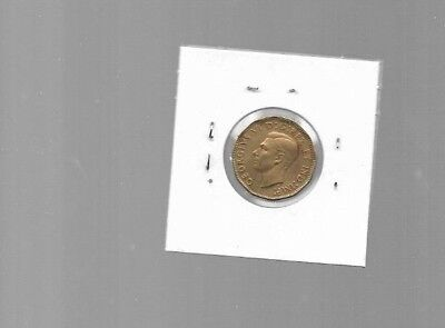 AK048:Canada Coin - King George VI 1943 Tombac Victory Nickel Five Cents