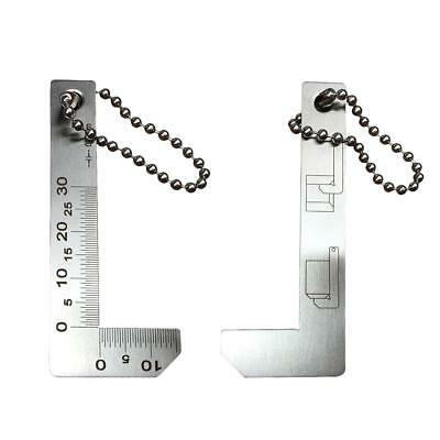 0-30mm 0.1mm Measuring Tool L Shaped Chamfer Gage Scale Ruler Stainless Steel