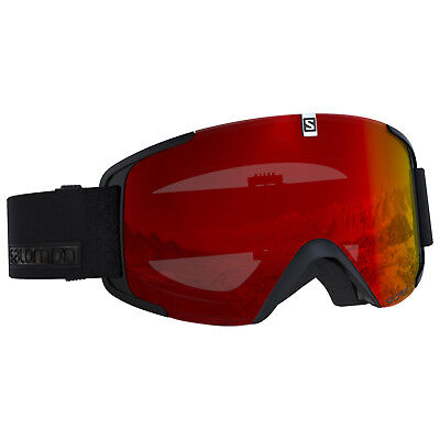 SALOMON XVIEW Skibrille Snowboardbrille (black-mid-red) Collection 2019 NEU !!!