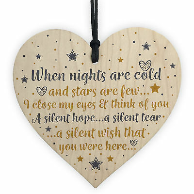 CHRISTMAS Tree Decoration In Memory Mum Dad Nan Memorial Heart Bauble Gifts