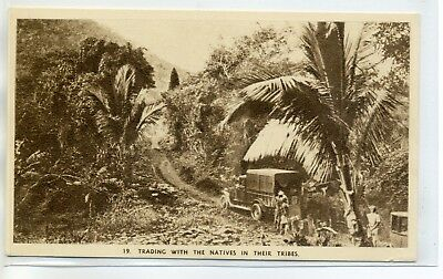97 NOUVELLE CALEDONIE Camion Foret Trading with the natives in Tribes E16-2017