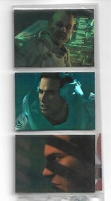 Tradingcards - Final Fantasy - The Spirit Within - 3x Chromium Sondercards