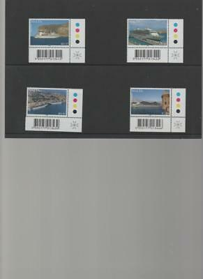 Malta 2009 Maritime Cruise Liners set of 4 top corner stamps with traffic lights