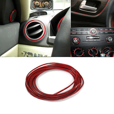 5M Line Car Interior Decor Red Point Edge Gap Door Panel Accessories Molding