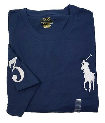 Polo Ralph Lauren Men's Big & Tall Navy Big Pony Crew-Neck Short Sleeve T-Shirt