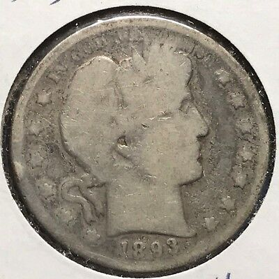 1893-S 50C Barber Half Dollar, KEY DATE! (40106)