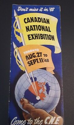 Vintage 1948 Canadian National Exhibition Brochure- Great Condition