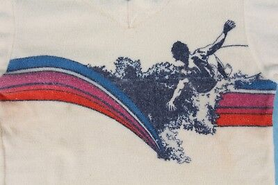 Vtg 70S Surf Surfing Terry Cloth Shirt Youth Kids