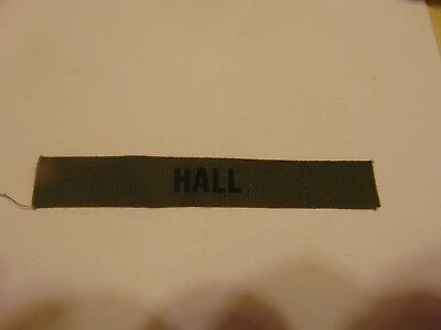 Military Patch Us Army Name Tape Tag Sew On For Bdus Older Subdued Hall