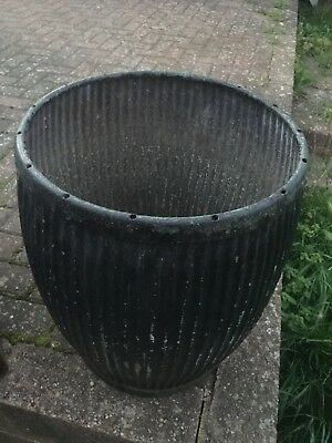 Vintage Galvanised Dolly Tub. Garden Planter. Furniture