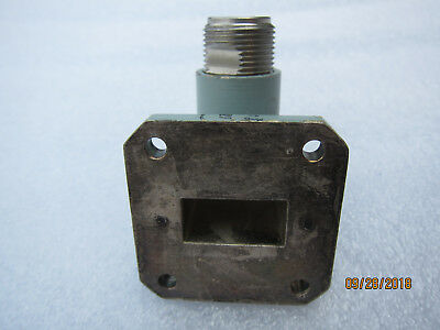 WR75 Waveguide transistion to N-TYPE X-Band 3cm