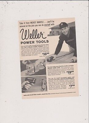 Weller Power Tools Ad #2 Mickey Mantle