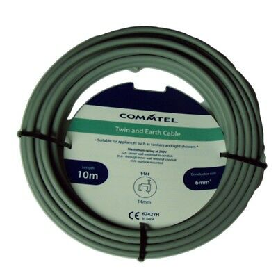 Commtel Twin And Earth Cable 10m 6mm,