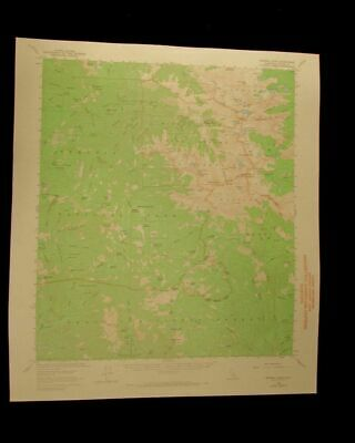 Mineral King Sequoia California vintage 1968 original USGS Topographical chart