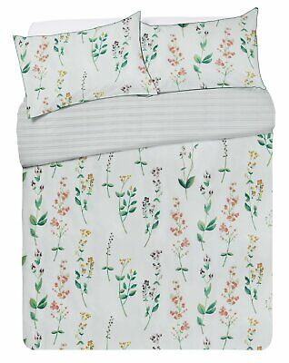 Argos Home May Floral 180 Thread Piped Edging Bedding Set - Kingsize