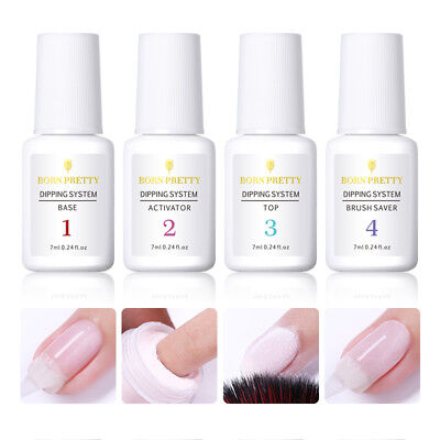 BORN PRETTY Dip Dipping Powder System Liquid Nail Basic Top Coat Pro Starter Kit