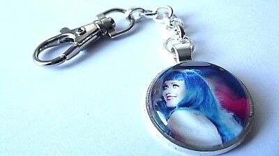 Katy Perry  Photo Key Ring Strong Chain Singer  Silver Plated Gift Boxed Party