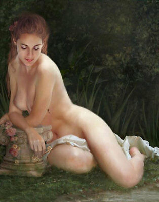 ZWPT620 embarrassed nude girl portrait 100% hand painted art oil painting canvas