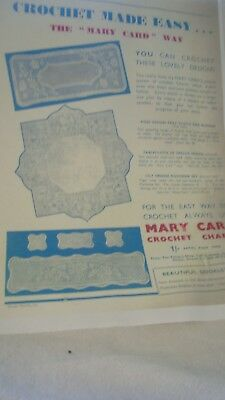 Photocopy of Advertisment for Mary Card Crochet Charts