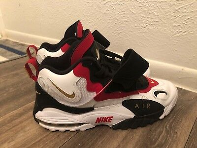 separation shoes dade7 ddc1a NIKE AIR MAX Speed Turf 49ers 2018 White Black Red Diamond (525225-101)  Size 10