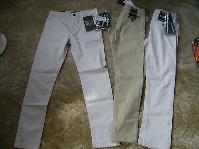 3 PAIRS OF chino style slim fit trousers With Belts Mayoral Nukutavake- AGE 8/10