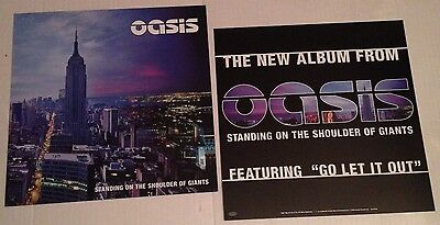 OASIS Liam Gallagher Standing on Shoulder of Giants 2-Sided Promo Poster FLATS