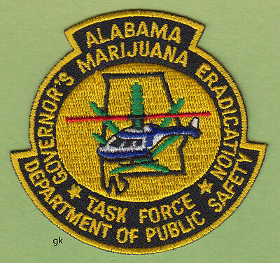 Alabama Marijuana Eradication  Dept. Of Public Safety Helicopter  Police Patch