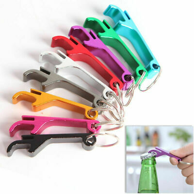 3pc Beer Bottle Opener Claw Small Pocket Key Chain Bar Beverage Keychain Ring