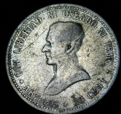1920 Uruguay 20 Cents Silver   A32-318