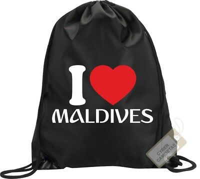 I Love Maldivas Mochila Bolsa Gimnasio Saco Backpack Bag Gym Maldives Sport