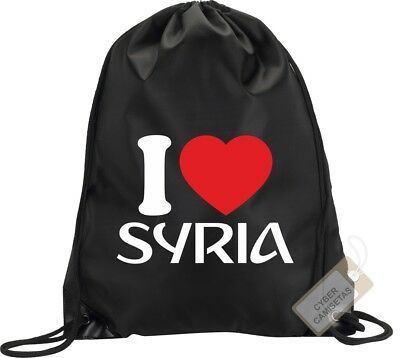 I Love Siria Mochila Bolsa Gimnasio Saco Backpack Bag Gym Syria Sport