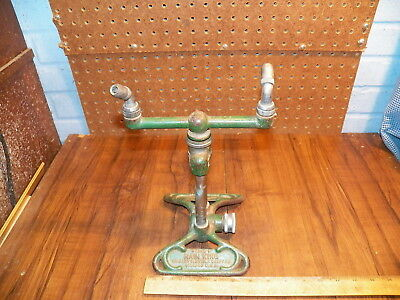 Vintage RAIN KING Model H Cast Iron Garden Sprinkler CHICAGO FLEXIBLE SHAFT CO.
