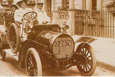 Actress Isabel Jay in Spyker car, c1907 - Nostalgia post card