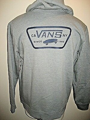 1a2473512a Vans Mens Full Patched pullover hoodie sweatshirt Grey Purple 1966 Free Ship  NWT