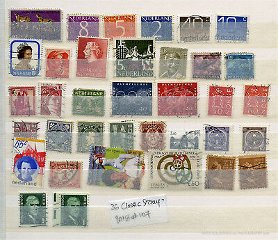 World Lot Small Classic Stamp Collection 2018#107 (36 Stamps)