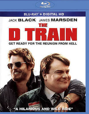 THE D TRAIN (Blu-ray + Digital HD, 2015) New / Factory Sealed / Free Shipping