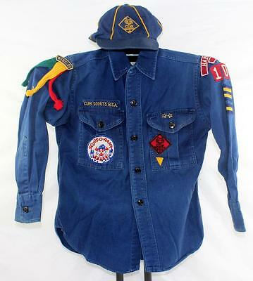 Vintage Official Cub Scout Shirt & Cap Hannibal, Missouri